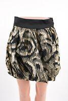 Zara Womens Metallic Gold Black Bubble Mini Skirt Sz XS Party Cocktail 7664/566