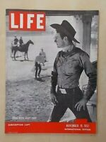 VINTAGE LIFE MAGAZINE NOVEMBER 19th 1951 - CHURCHILL WINS ELECTION -BRONCO RIDER
