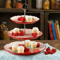 The Pioneer Woman Blossom Jubilee 3-Tier Serving Tray NEW