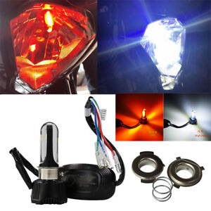 40W LED H4 P15D Motorcycle Headlight High/Low Bulb w/ Red Driving Fog Light Lamp