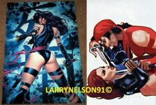 BLACK WIDOW VS ELEKTRA POSTER PSYLOCKE UNCANNY X-MEN NETFLIX MARVEL AVENGERS SAI