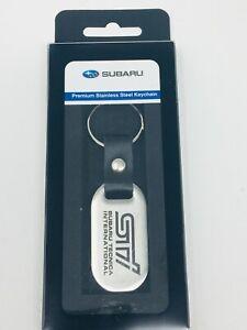 Subaru STI Logo Stainless Steel Key Chain Forester Impreza Legacy Outback OEM !!