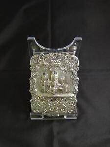 Antique Victorian Silver Castle-Top Card Case, Birmingham, Taylor & Perry, 1845