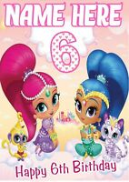 SHIMMER and SHINE    Birthday Poster Banner   Personalised Name and Age    TP184