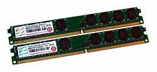 Transcend JM2GDDR2-6K (2GB DDR2 PC2-5300U 667 MHz LP DIMM 240-pin) RAM Kit of 2