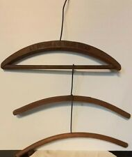 3 ANTIQUE/VINTAGE WOODEN HANGERS, A.E. ANDERSON & CO. TAILORS, CHICAGO