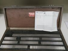 "Starrett/Mixed Large/Long Gage Block Set 5""-20"" (Calibrated 2015 w/ Cert) - NH25"
