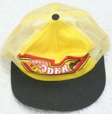 Vintage Street Rodder Magazine Hat Snapback One Size Fits All Trucker Cap Yellow