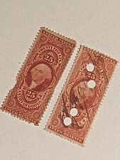 Us Stamps Entry Of Goods Revenue Scott #R45C And R46C
