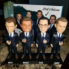 2020 San Jose Sharks 4x Announcers Broadcasters Bobblehead - Brand New In Box!