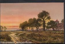 Artist Postcard - B.W.Leader R.A - At Eventide, Walker Art Gallery  N419