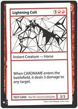 Lightning Colt - Mystery Booster Test Print - NM MTG Card