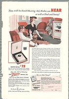 1940 Zenith Radio Microstatic FM Model 10H571 Vintage Print Ad