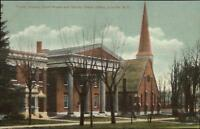 Lowville NY Church & Court House c1910 Postcard