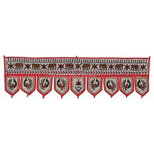 Indian Cotton Vintage Patchwork Window Valance Toran Embroidered Door Hanging