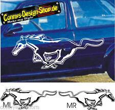 Mustang caballo cartattoo Pegatina Sticker 50x19 cm m1 ml o Mr elección de color