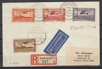 H3420/ SAAR – AIRMAIL - MI # 195 / 198 COMPLETE ON COVER – CV 170 $