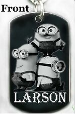 MINIONS - Dog tag Necklace or Key chain + FREE ENGRAVING