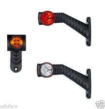 2 RECOVERY SIDE MARKER OUTLINE LED LIGHTS LAMPS 12/24V TRAILER TRUCK LORRY