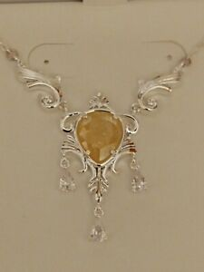 Ring Bomb Party - Versailles Joanna Pendant - Canary Yellow Ice and White Topaz