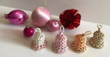 Vintage Christmas Tree Decorations Shabby Chic Pink