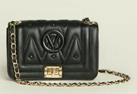 Valentino by Mario Valentino Beatriz D Sauvage Leather Crossbody purse bag black