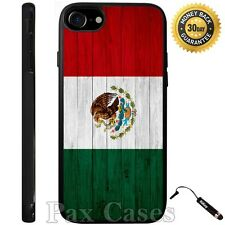 Mexico Flag On Wood Case For iPhone 6S 7 Plus Samsung Galaxy S7 Edge S8 Plus