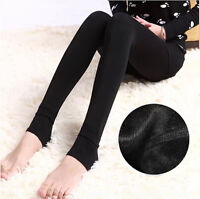 Women's Thick Hot Warm Fleece lined Fur Winter Tight Pencil Leggings Sexy Pants