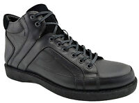 $200 REACTOR Black Leather & Suede Fashion Ankle Boots Sneakers Men Shoes