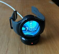 Samsung Galaxy Gear S2 44mm Stainless Steel Case Dark Gray Classic Buckle(AT&T)