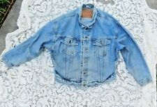 Vintage 1980's Mens Xlarge Levis Jean / Jeans Jacket Made In Mexico