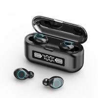 Bluetooth5.1 Wireless Earbuds LED HIFI TWS Waterproof Headset for iPhone Samsung