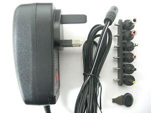 2.5 amp 3/4.5/5/6/7.5/9/12 volt AC-DC USB Power Adaptor/Supply/Charger (30 watt)