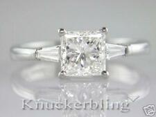 Diamond Engagement Ring 1.42ct Certified F VS1 Exc Princess Cut 18ct White Gold