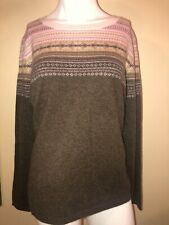 Womans Cashmere Sweater, Fair Ise Design, Sz Large   NWT