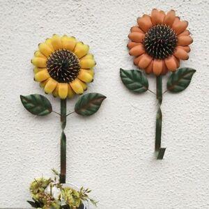 Sunflower Metal Hook Wall Home Iron Kitchen Keys Coats Utilities Decor Hanger