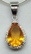 ❤JAYNES GEMS 4CT  YELLOW CITREEN AND CHAIN