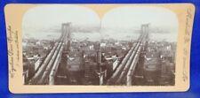 New York City Brooklyn Bridge and the City Keystone Stereoview