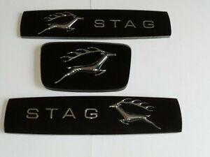 Triumph Stag mk2 set of three badge inserts black