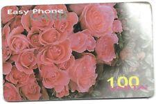 4951 SCHEDA TELEFONICA INFOSTRADA USATA EASYPHONECARD - ROSES YELLOW VALUE