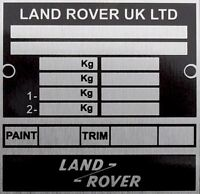 Land Rover Defender 90 110 130 Bulkhead Chassis Information vin chassis plate id
