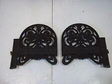 "Antique Cast Iron Shelf Brackets Left and Right for 6 1/2"" X 3/4"" shelf Vintage"