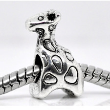 cute giraffe baby charm charms bead bracelet bangle gift silver pd European uk