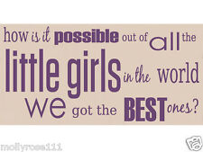 Inspirational Daugther Little Girls Daughters Bedroom Wall Deco  Wooden Sign