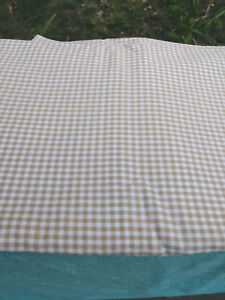 """Fabric Remnant Medium Brown/White GinghamYds 1 1/2 x 45"""""""