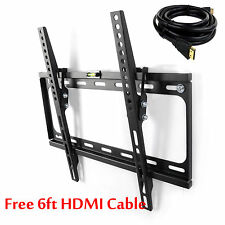 HD LCD LED Flat Tilt TV Wall Mount Bracket 32 37 39 40 46 47 50 55 for Samsung