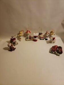 Christmas Tree Ornaments Assorted 10 Holidays Decorations Decor Vintage