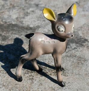 "Vintage Bambi Cast Metal Mold Bobble Head Deer Fawn 1950s Japan ""T"" Mark 3.25"""