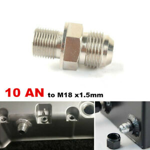 10AN to M18x1.5mm Turbo Oil Pan Adaptor Bung Return Drain Plug Non Weld Fitting