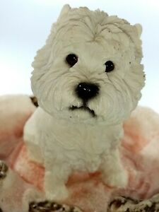 The Leonardo Collection  Terrier Westie Vintage Home Sweet Home Resin Dog